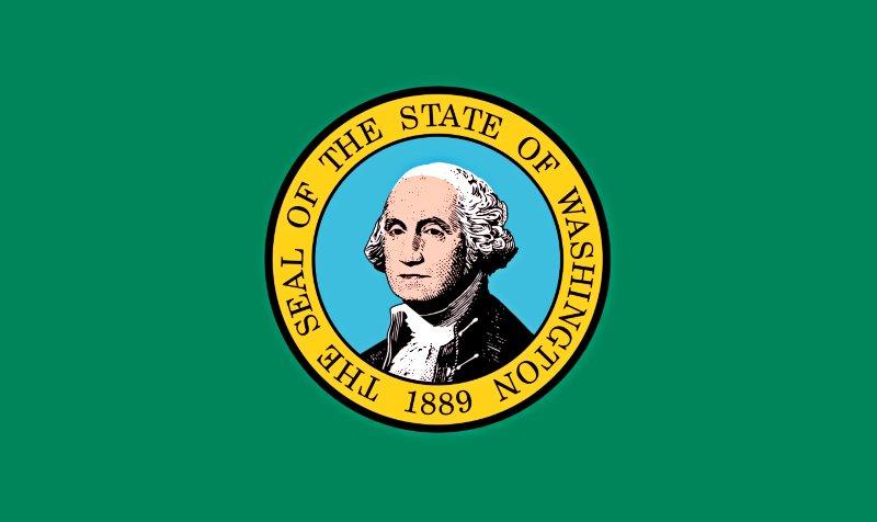 Официальный флаг штата Вашингтон, принятый в 1923 году