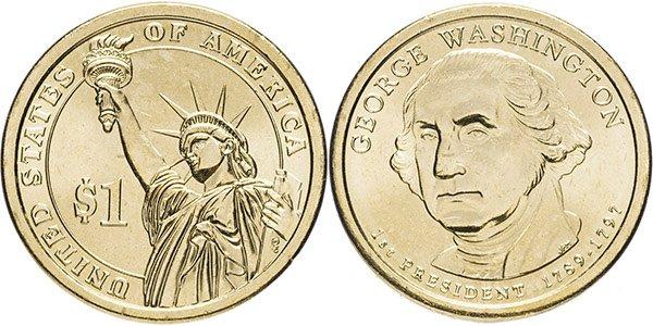 1 доллар «1-ый президент США - Джордж Вашингтон» (D), 2007 год