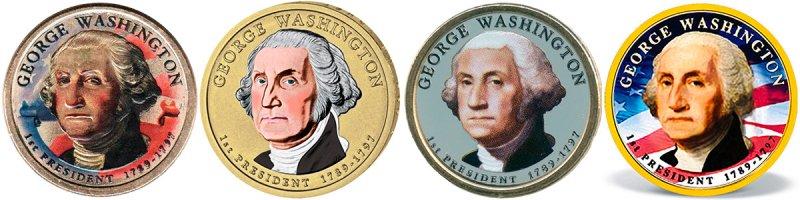 Неофициальные варианты доллара «1-ый президент США - Джордж Вашингтон», 2007 год