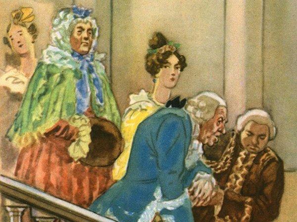 Николай Кузьмин. Иллюстрация к комедии «Горе от ума». 1948 год