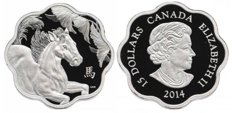 15 долларов Канады 2014 года