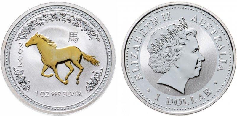 1 доллар Австралии 2002 года