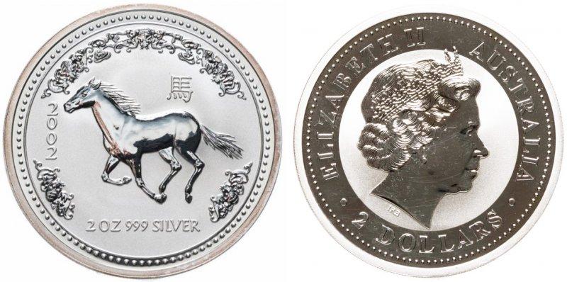 2 доллара Австралии 2002 года