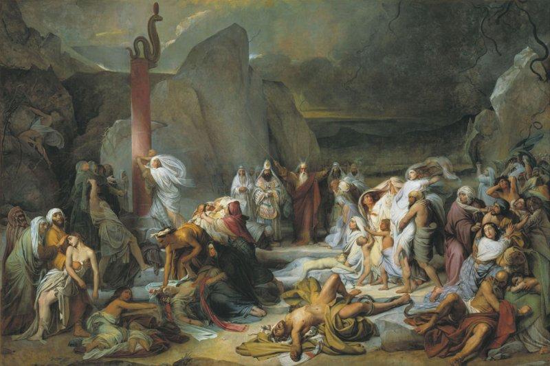 «Медный Змий» картина Ф. Бруни