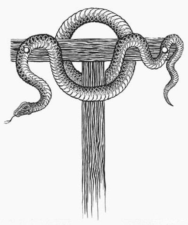 Образ змея на кресте
