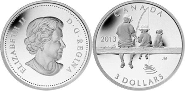 3 доллара Канады 2013 года