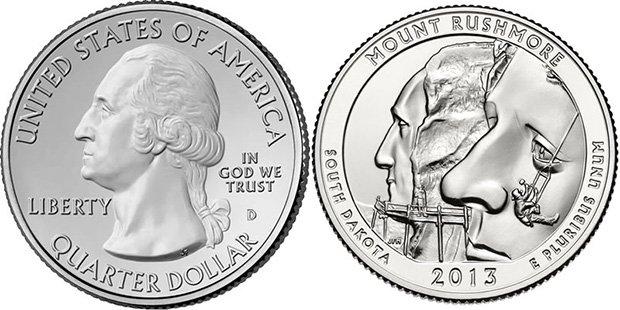 25 центов США 2013 года
