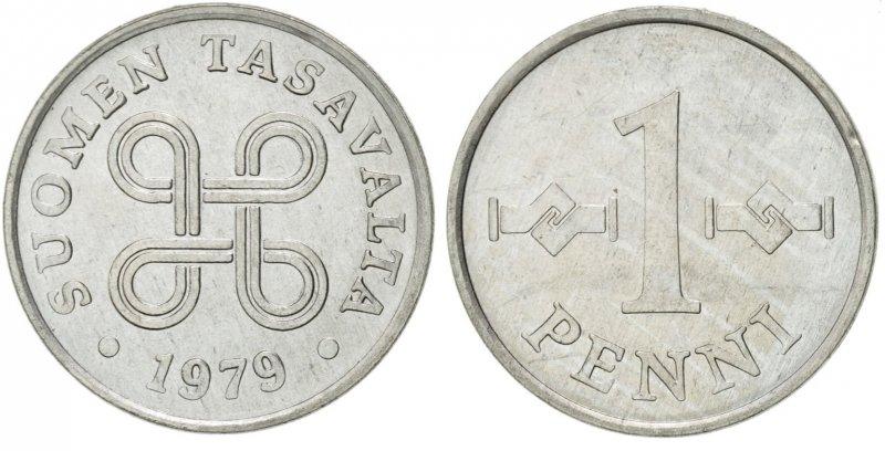 1 пенни 1969-1979
