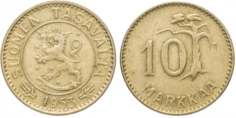10 марок 1952-1962