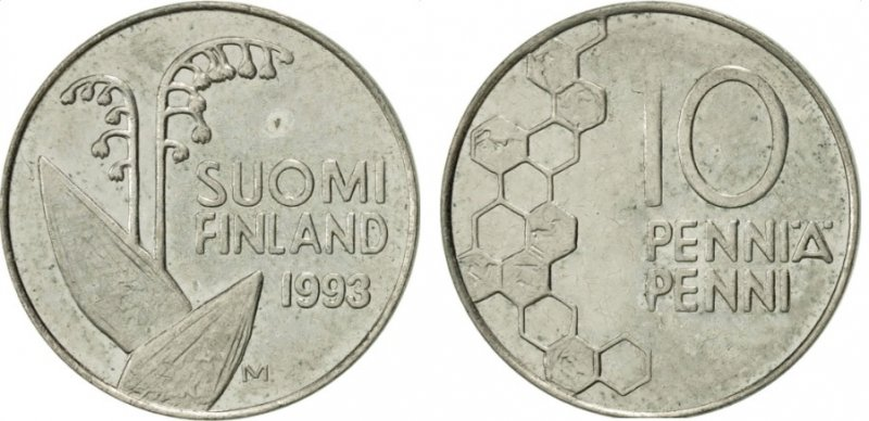 10 пенни 1990-2001