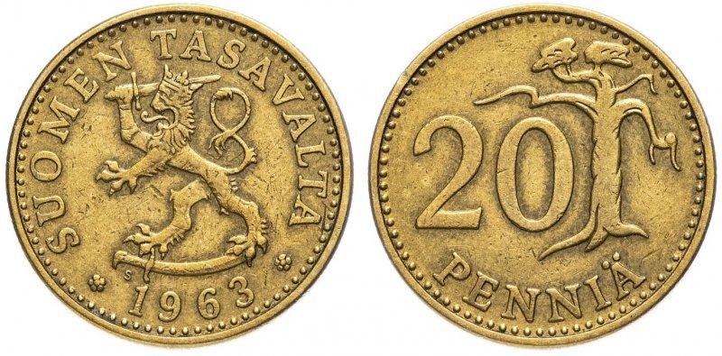 20 пенни 1963-1990