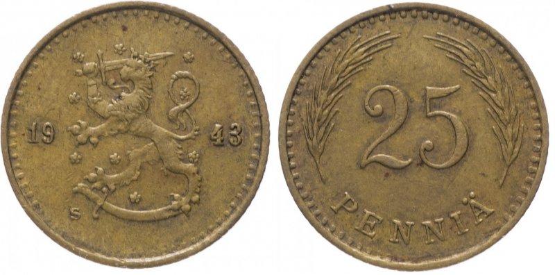 25 пенни 1940 - 1943