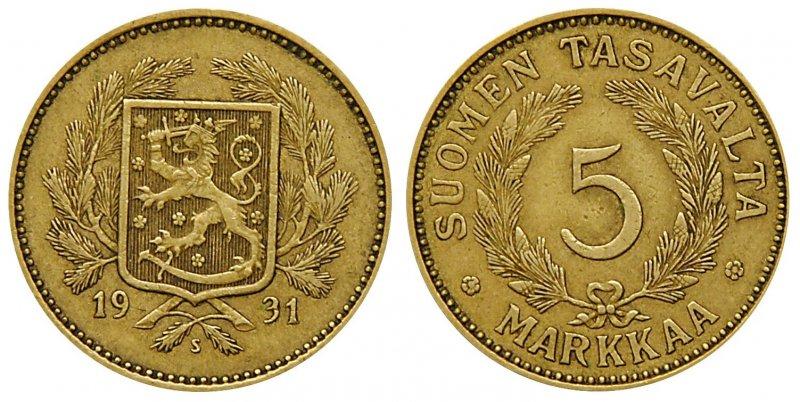 5 марок 1928-1942