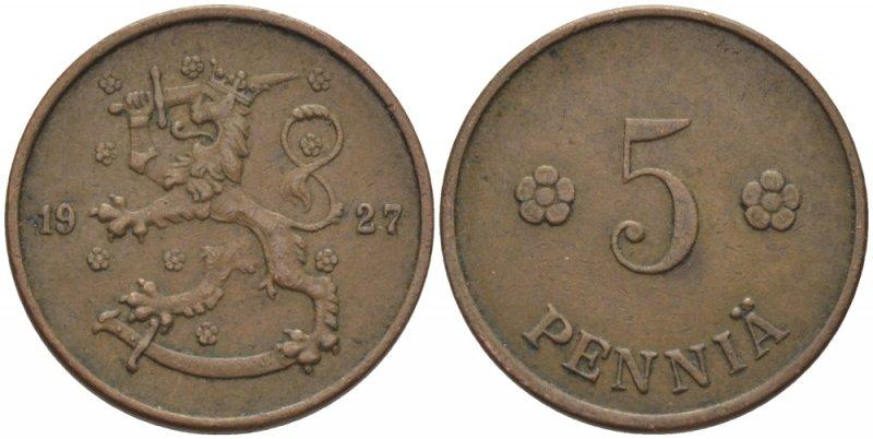 5 пенни 1918-1940