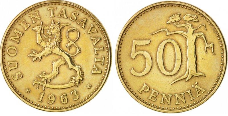 50 пенни 1963-1990