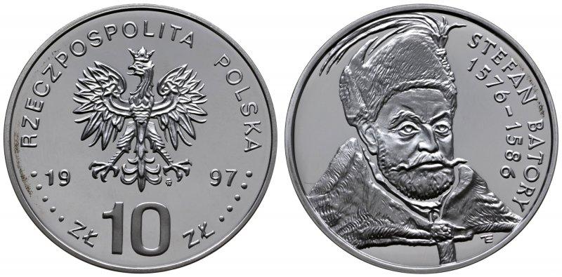 10 злотых 1997 года, Стефан Баторий