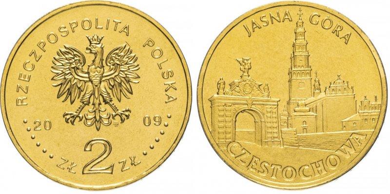 2 злотых 2009 года, Ченстохова