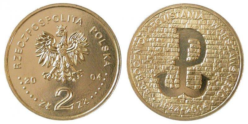 2 злотых 2004 года, 60 лет Варшавскому восстанию