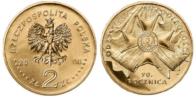 2 злотых 2008 года, 90 лет независимости Польши