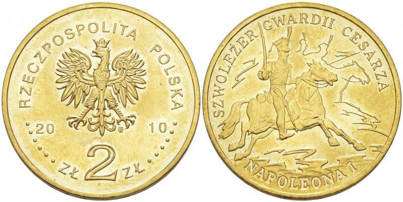 2 злотых 2010  года, лёгкая кавалерия Наполеона