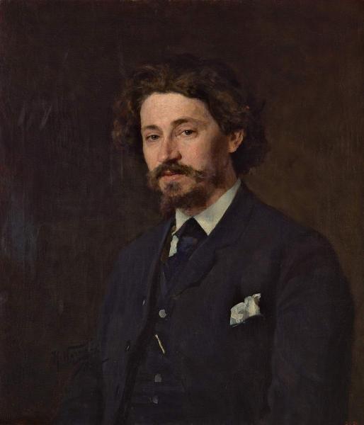 Портрет И. Е. Репина, 1885 год, художник Н. Д. Кузнецов