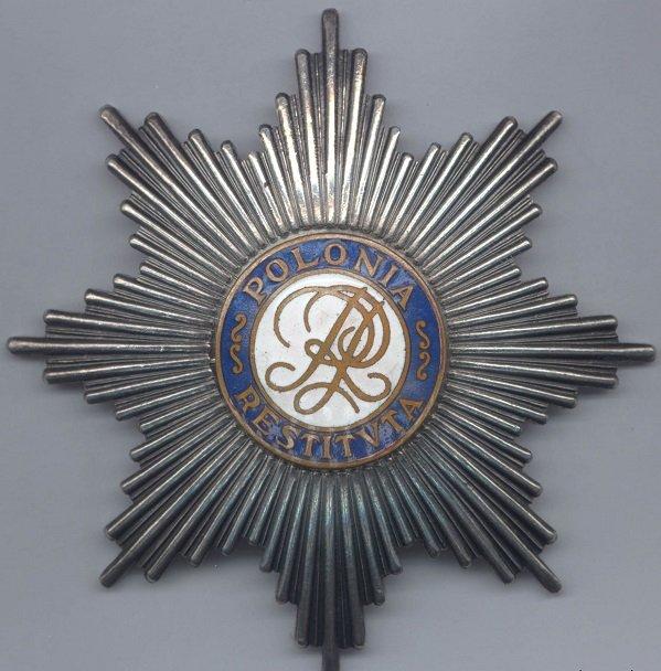 Звезда Ордена Возрождения Польши первого класса