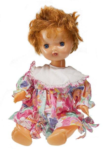Кукла «Непослушная Аленка», пластмасса, Московская фабрика подарочных и сувенирных игрушек, СССР, 1970-1990 гг.