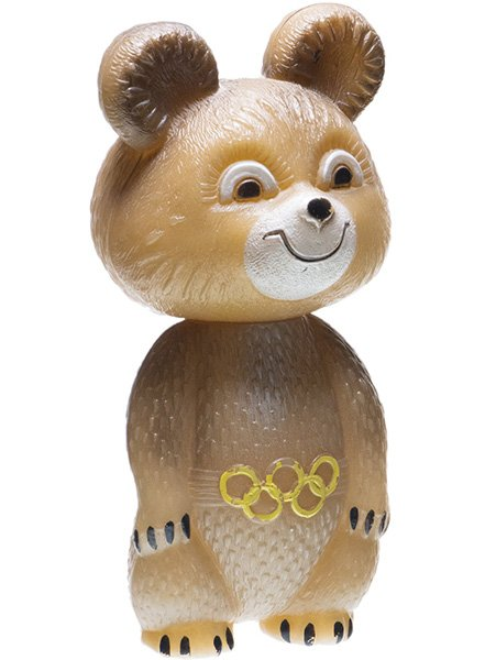 Игрушка «Олимпийский мишка», пластик, СССР, 1977-1990 гг.