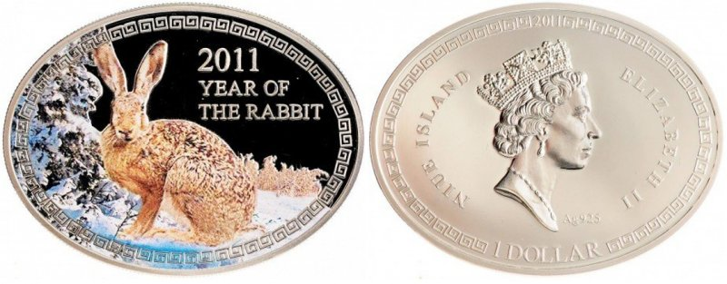 Оригинальная форма монеты Ниуэ