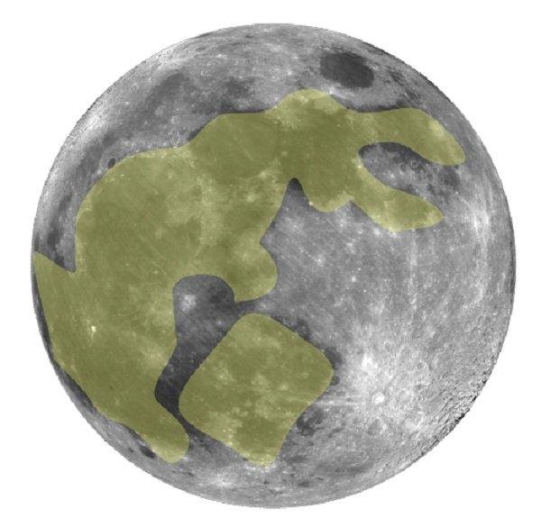 «Лунный Кролик» на ночном светиле
