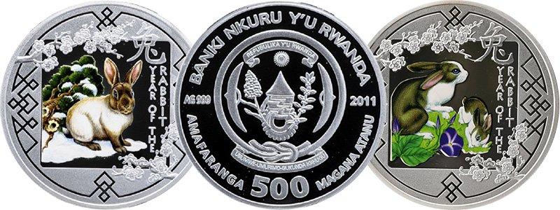 Два варианта монеты Руанды