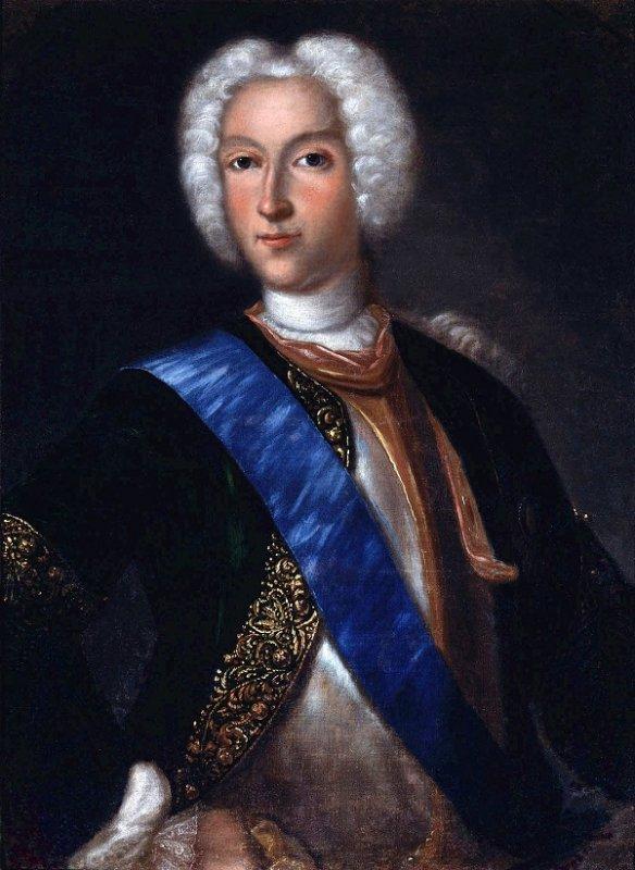 Иоганн Ведекинд. Портрет Петра II Алексеевича. Начало 1730-х годов