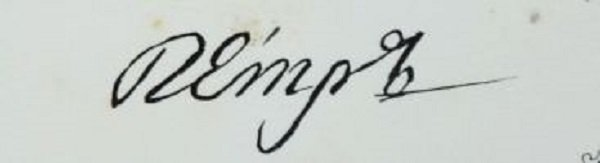 Подпись-автограф Петра II