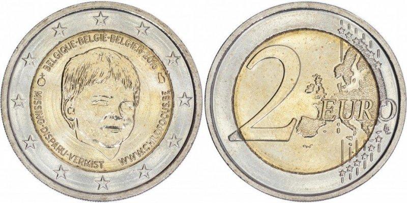 2 евро 2016 года (Бельгия)