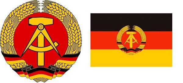Герб и флаг ГДР (в редакции 1955-1959 гг.)