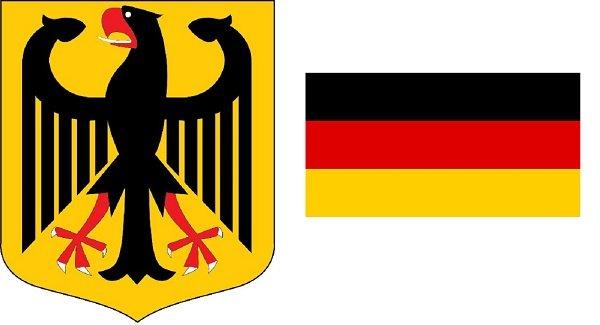 Герб и флаг ФРГ (в редакции 1949-1950 гг.)
