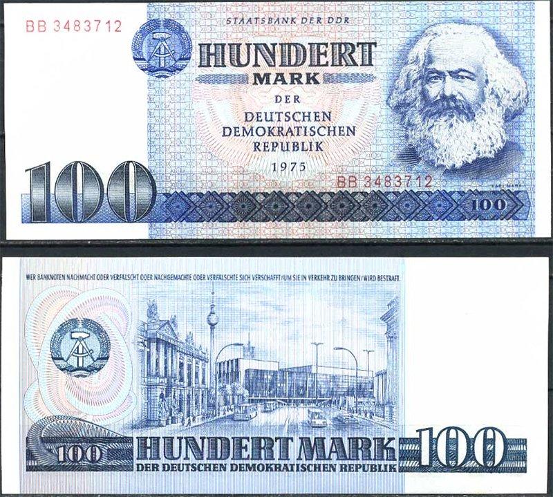 100 марок. ГДР. 1975 год