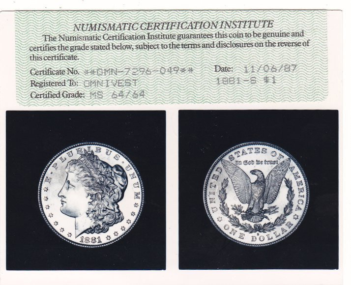Сертификат NCI