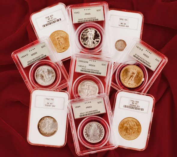 Монеты в современных слабах