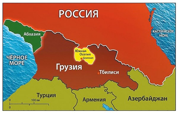 Республика Абхазия на карте