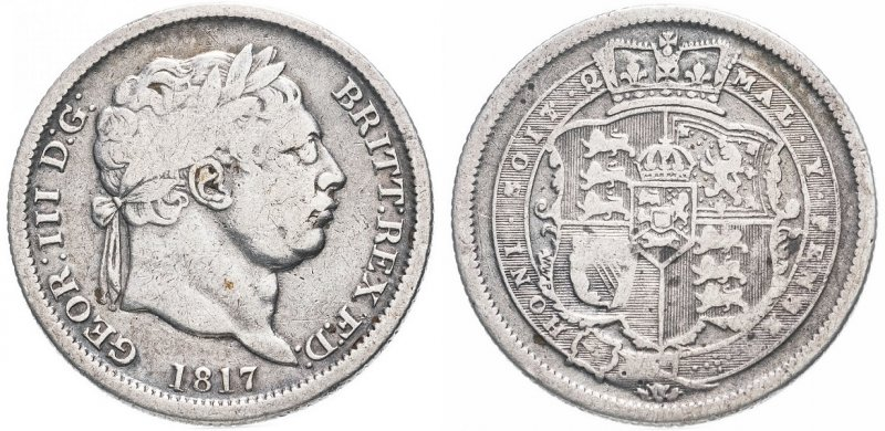 Шиллинг Георга III (1760-1820)