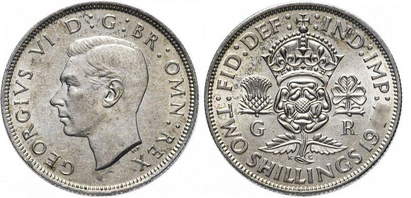 2 шиллинга Георга VI (1937-1946)