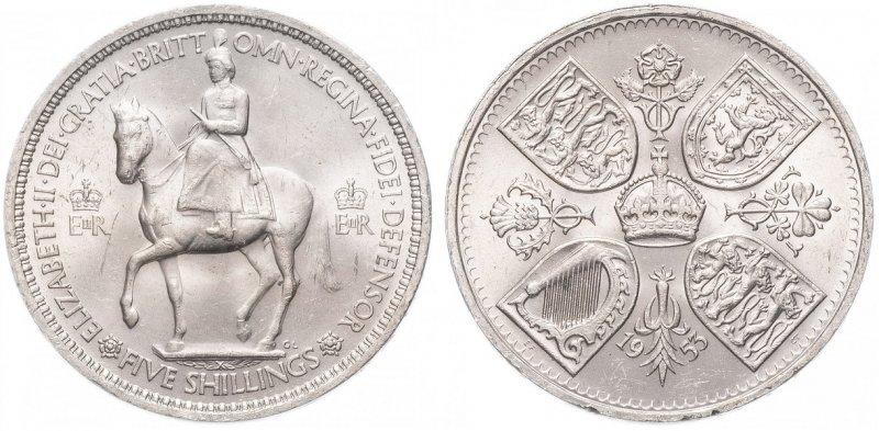 5 шиллингов «Коронация Елизаветы II»