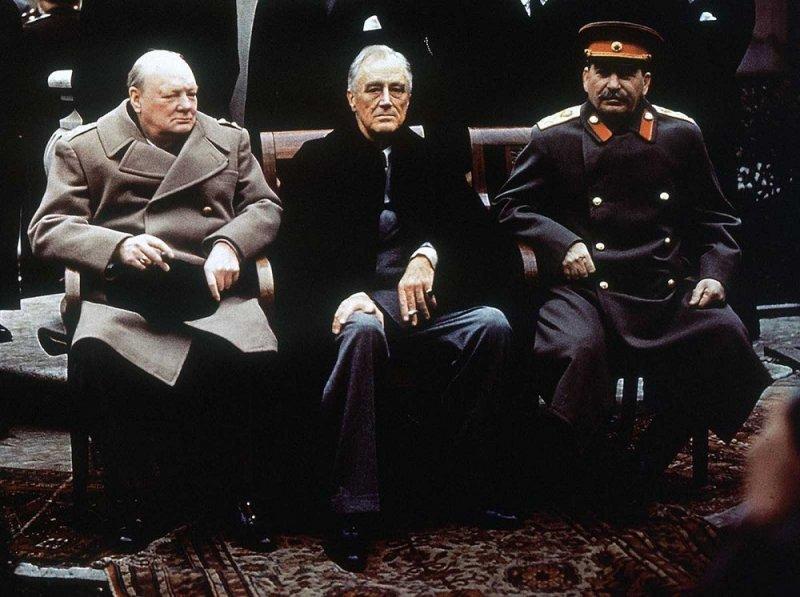 1945. Уинстон Черчилль на Ялтинской конференции