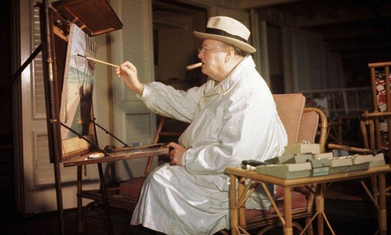 Уинстон Черчилль на отдыхе