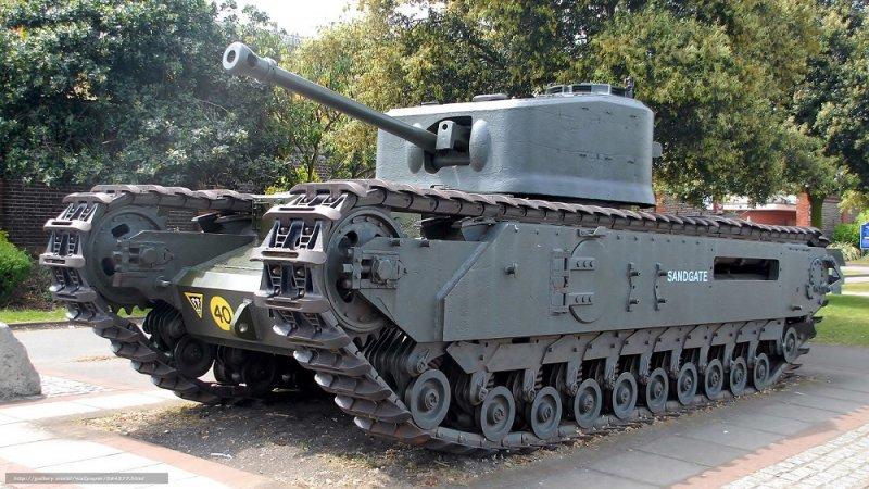 """тяжёлый танк Великобритании """"Черчилль"""", серийно производился с 1941 по 1945 гг"""