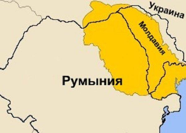 Карта средневековой Молдавии на фоне современных государств