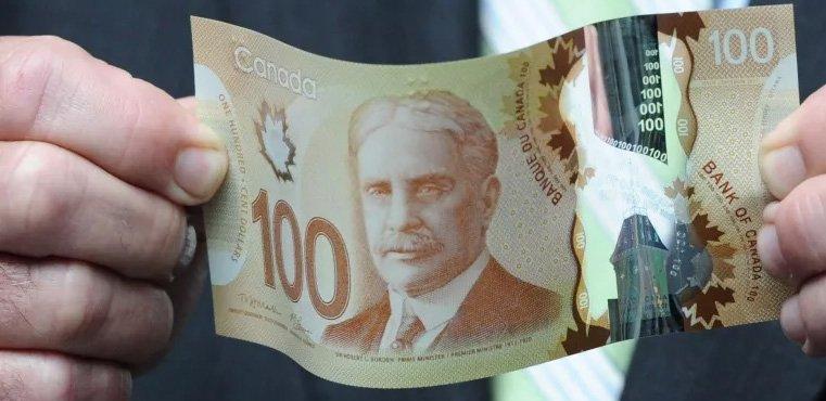 Полимерные деньги - банкнота 100 долларов Канады