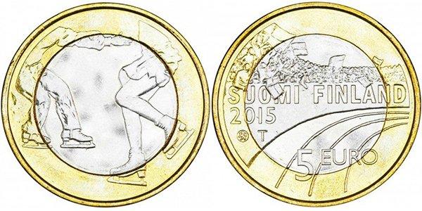Финляндия, 5 евро 2015 года