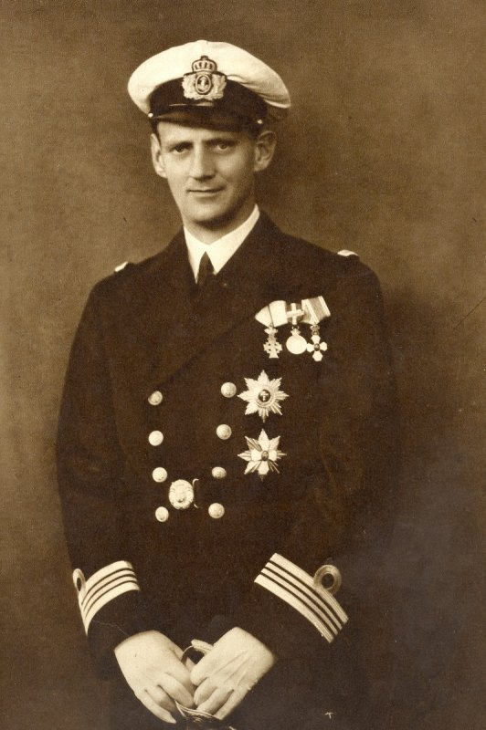 Принц Фредерик во время службы на флоте